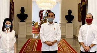 Jokowi Beri Nasihat ke Grace Natalie dan Giring
