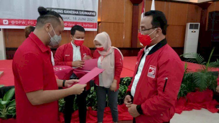 Giring Melantik DPW dan DPD PSI Kalimantan Barat